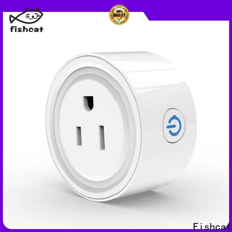 Fishcat custom wholesale app controlled plug socket voice-activated home