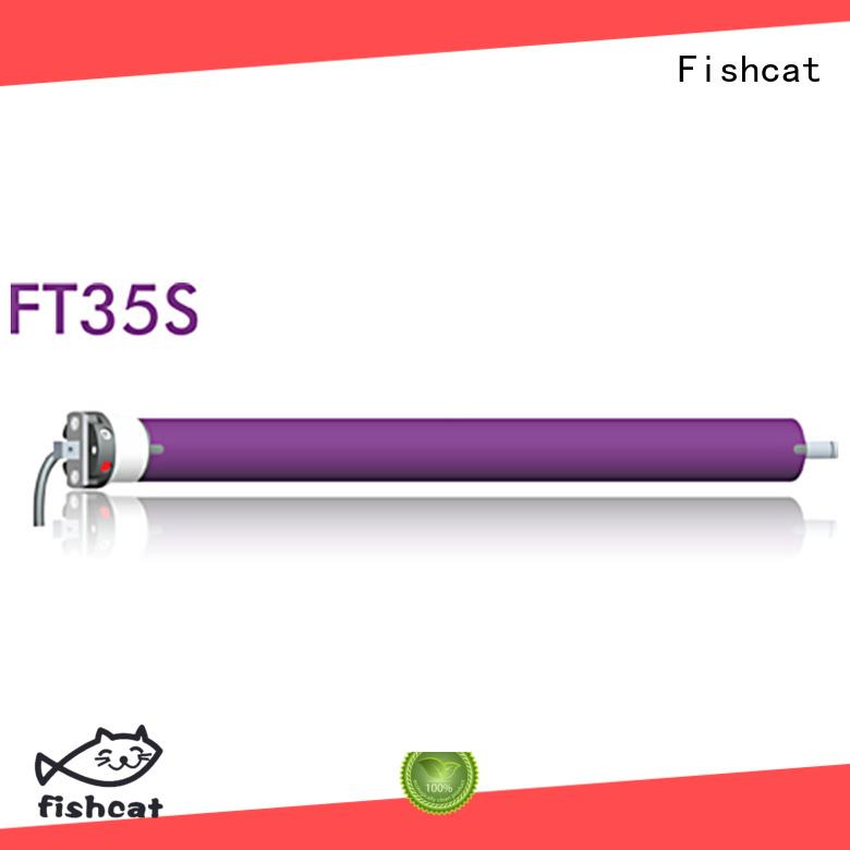Fishcat cost saving tubular motor manufacturer satisfying for projector screen