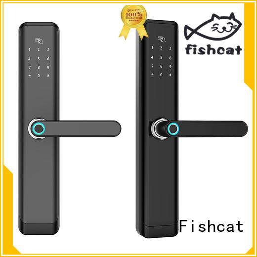 Fishcat intelligent wifi keypad door lock factory smart home