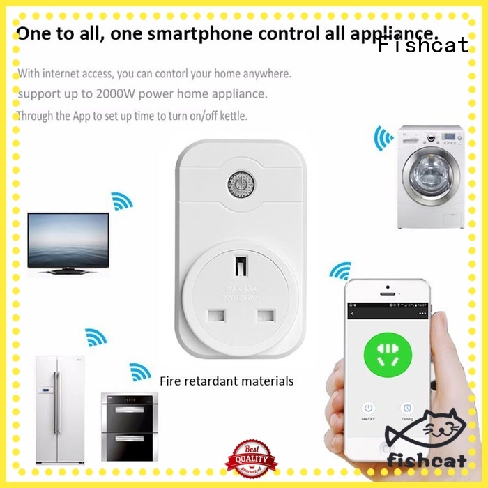 Fishcat convenient remote control timer plug excellent for voice-activated home