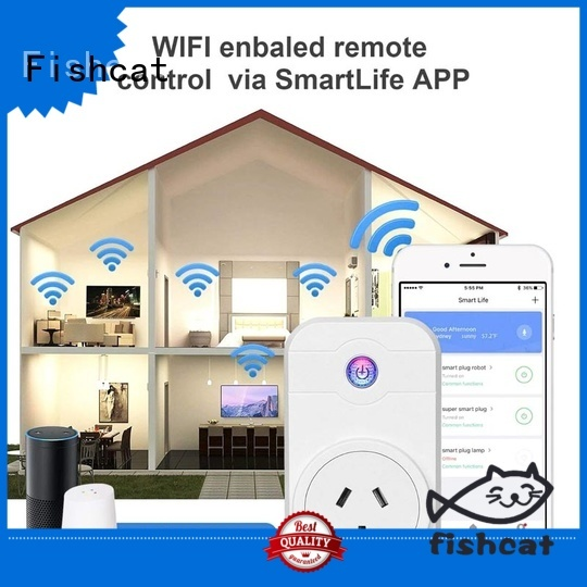 Fishcat reliable smart plug remote control excellent for voice-activated home