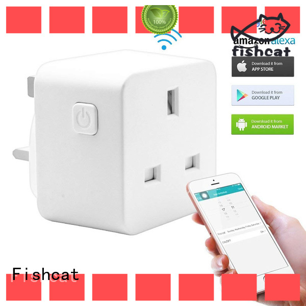 Fishcat reliable wifi double socket popular for voice-activated home