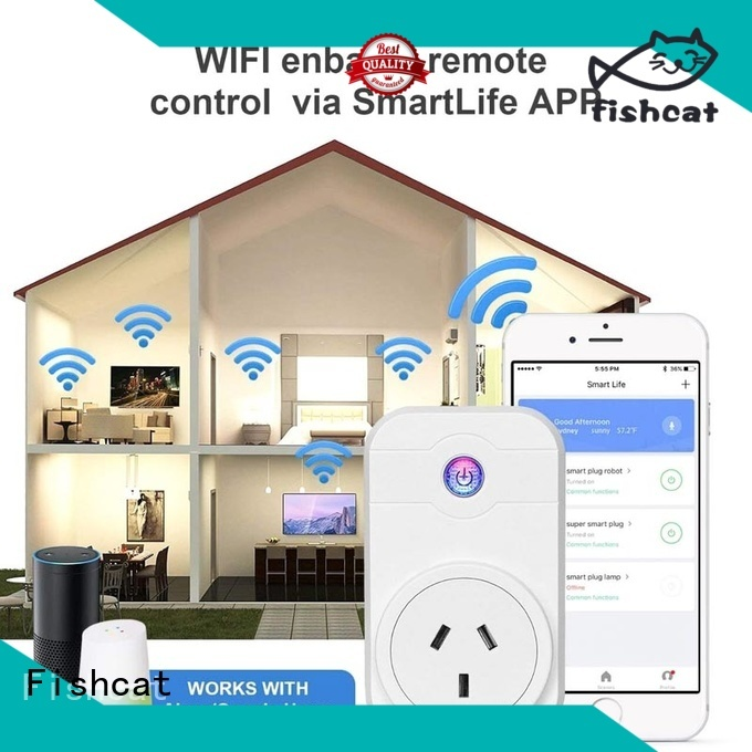 Fishcat energy saving wifi smart outlet suitable for electrical appliances