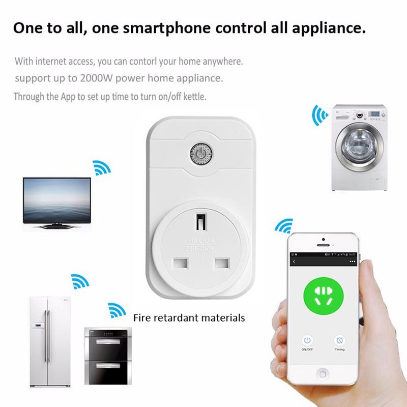 WiFi smart socket, WiFi power socket (European regulations)