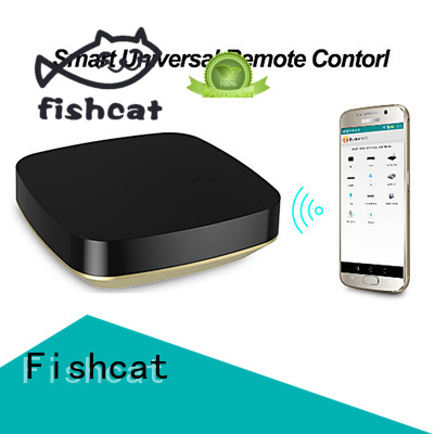 Fishcat one-hand control smart tv remote control electric curtains
