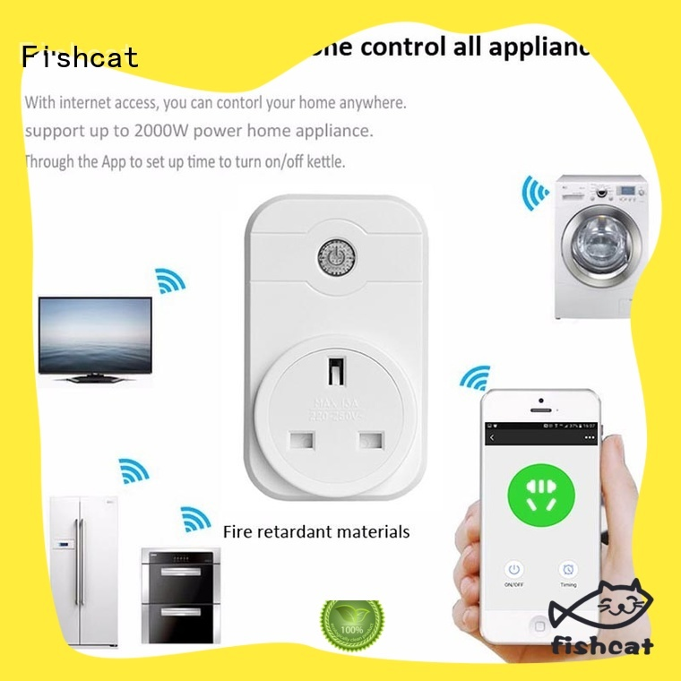 Fishcat automatic app controlled plug widely employed for voice-activated home