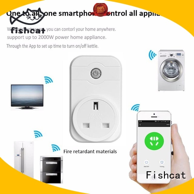 intelligent wifi controlled outlet widely employed for voice-activated home
