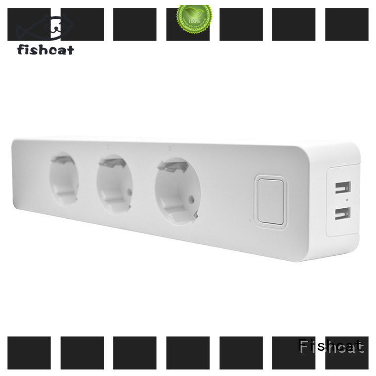 Fishcat voice control smart outlet strip suitable for saving energy