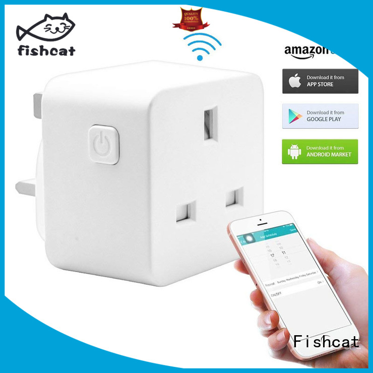 Fishcat useful wifi controlled outlet popular for home automation