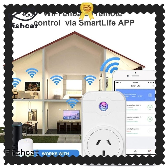 Fishcat wifi controlled outlet excellent for home automation