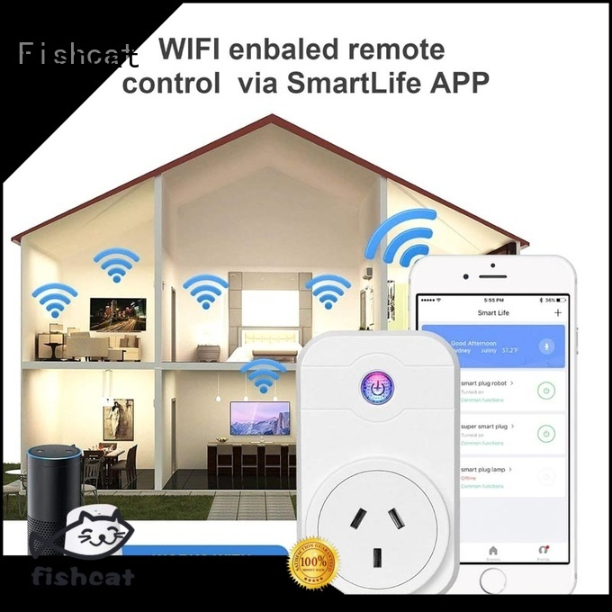 Fishcat wifi smart home socket voice-activated home