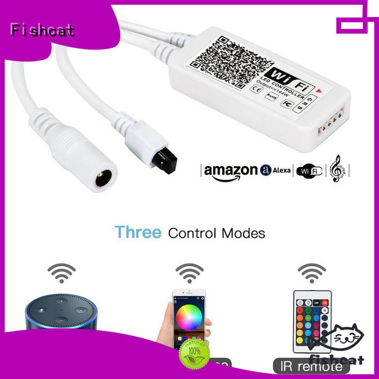 Fishcat rgb led strip wifi controller system suitable for