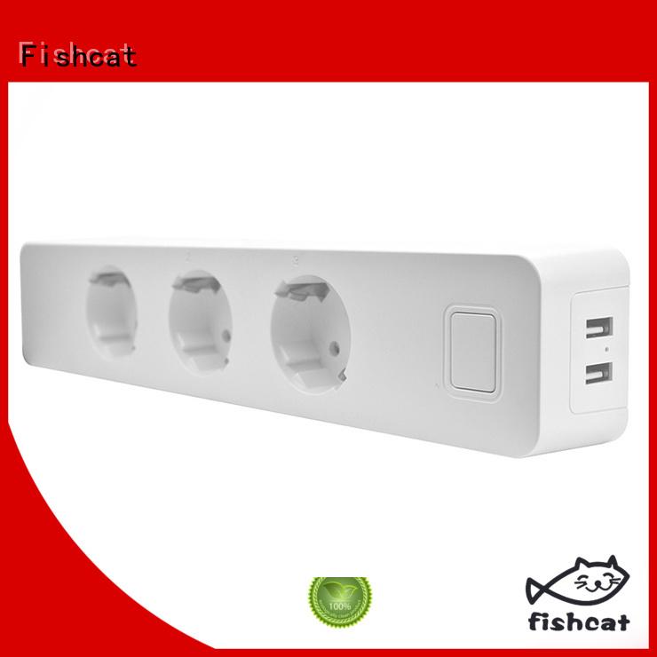 Fishcat smart outlet strip satisfying for saving energy