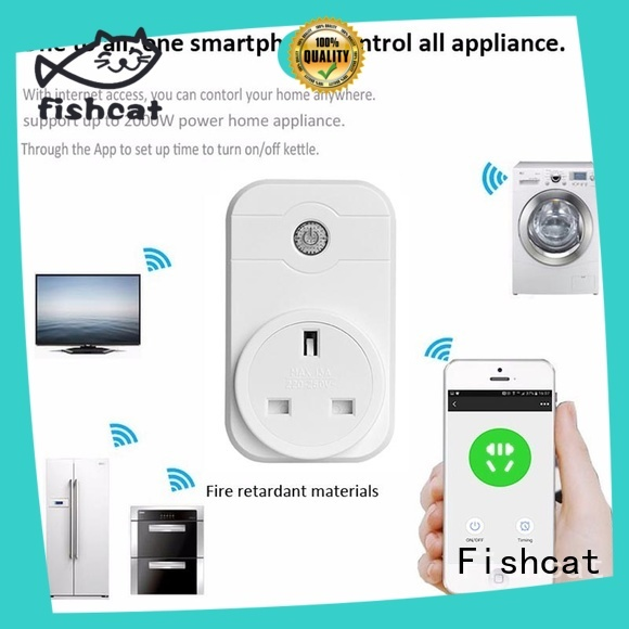 Fishcat wifi plug socket popular for voice-activated home