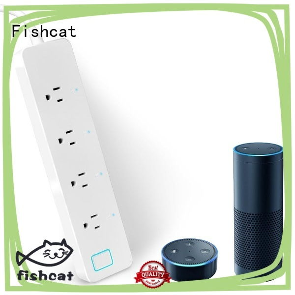 Fishcat independent control remote control power strip optimal for home automation