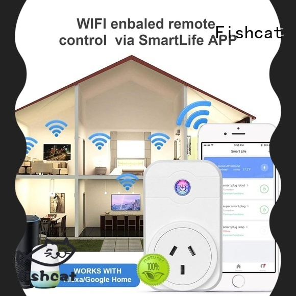 Fishcat wifi timer plug suitable for voice-activated home