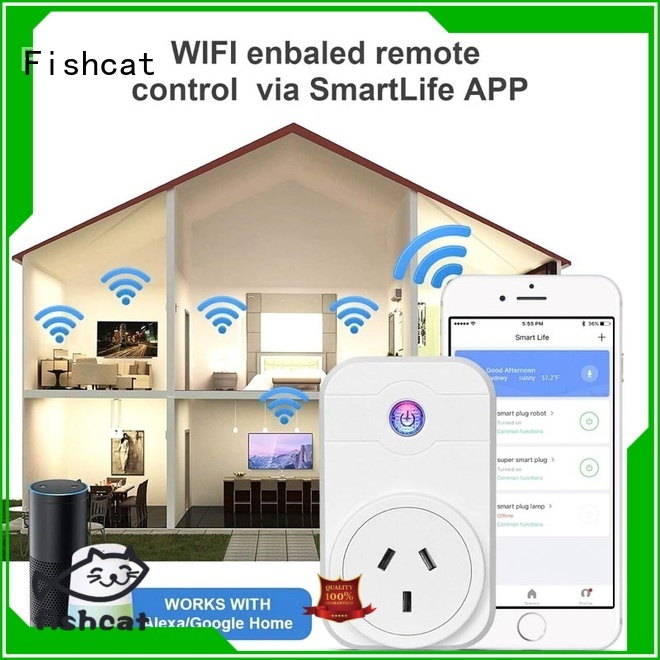 Fishcat intelligent wifi smart outlet popular for smart home