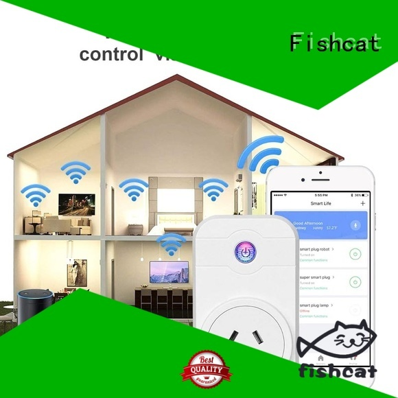 Fishcat efficient wifi smart power socket excellent for voice-activated home